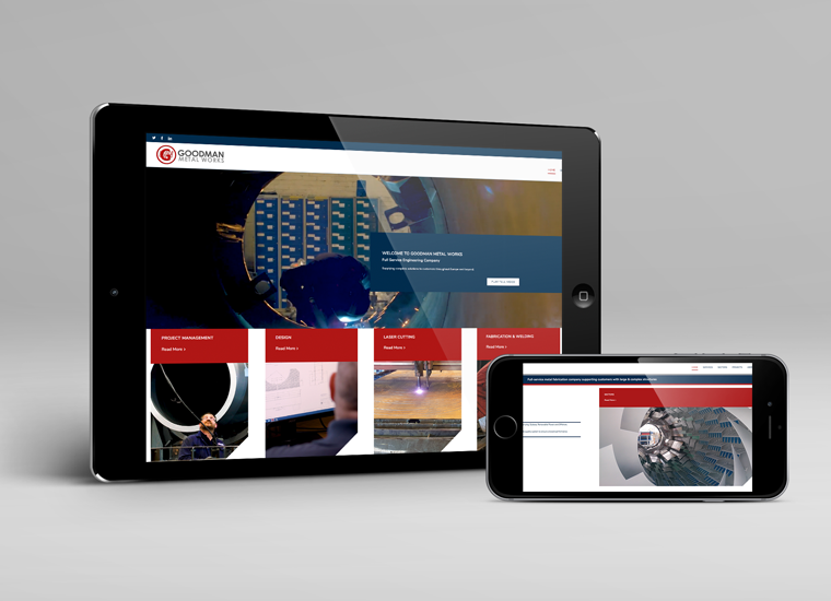 GOODMAN METAL WORKS RESPONSIVE WEBSITE DESIGN IMAGE 3