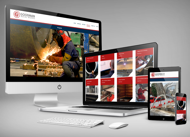 GOODMAN METAL WORKS WEBSITE DESIGN